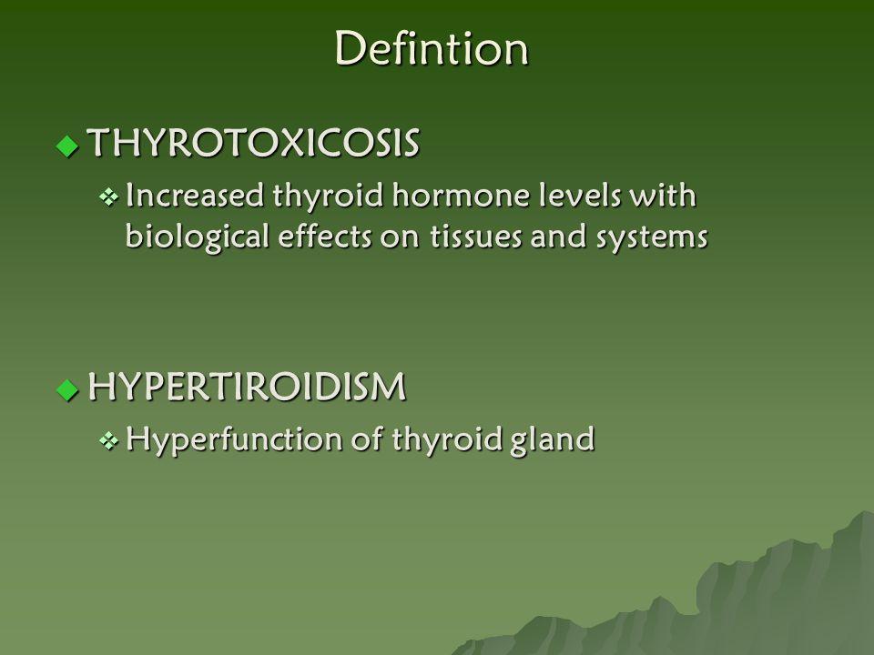 Defintion THYROTOXICOSIS HYPERTIROIDISM