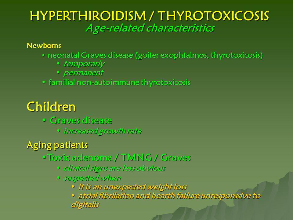 HYPERTHIROIDISM / THYROTOXICOSIS Age-related characteristics