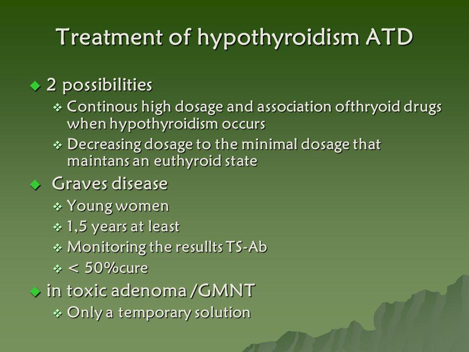 Treatment of hypothyroidism ATD