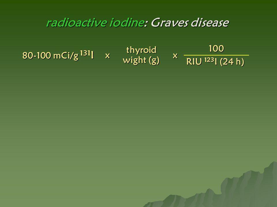 radioactive iodine: Graves disease