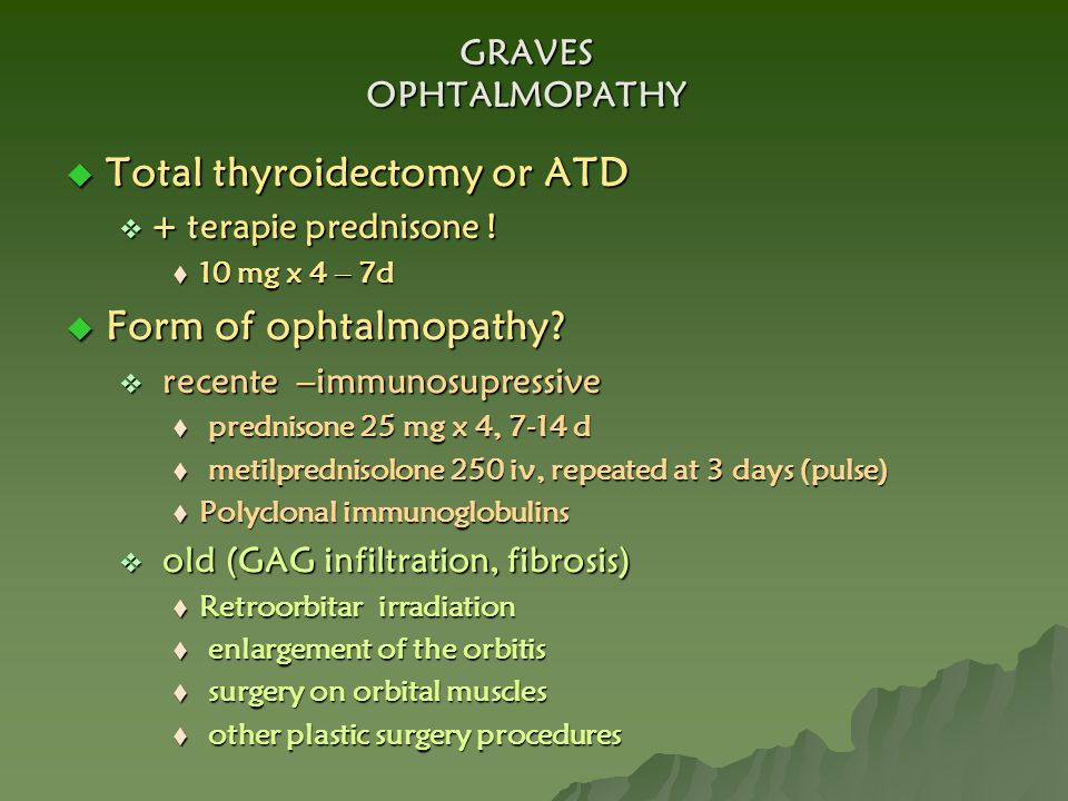 Total thyroidectomy or ATD