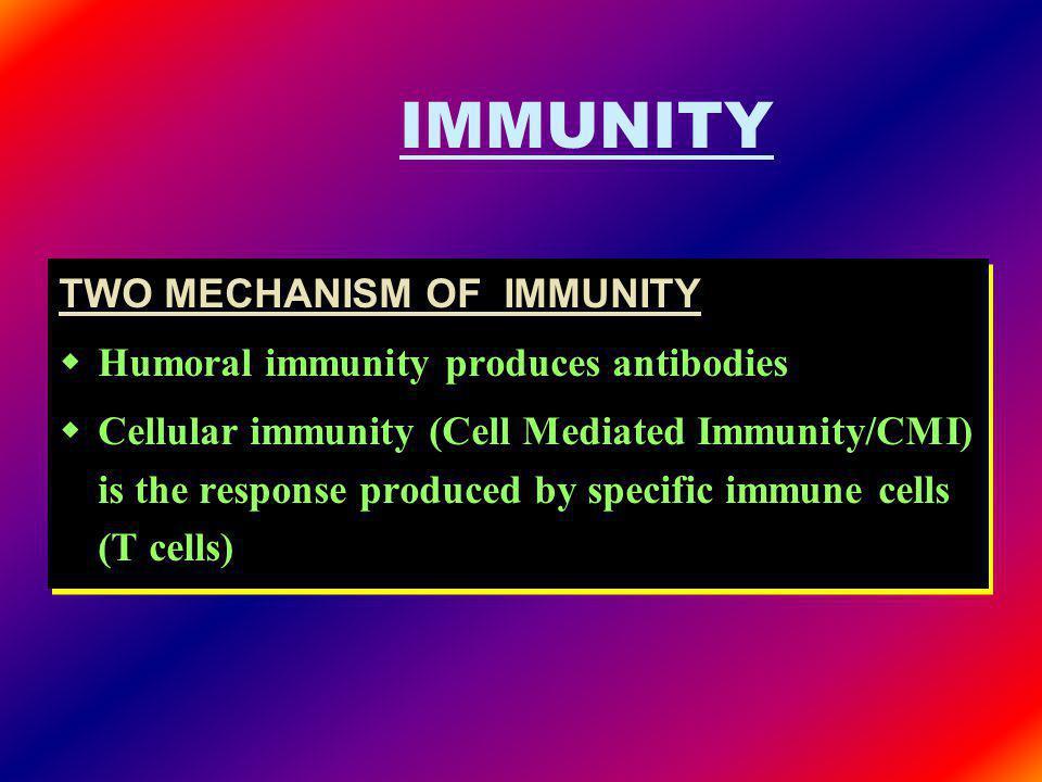 IMMUNITY TWO MECHANISM OF IMMUNITY