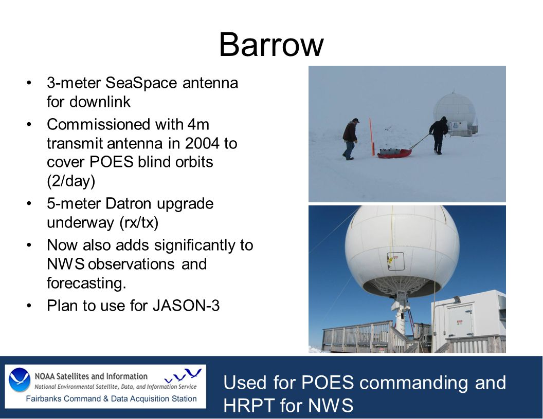 Barrow Used for POES commanding and HRPT for NWS