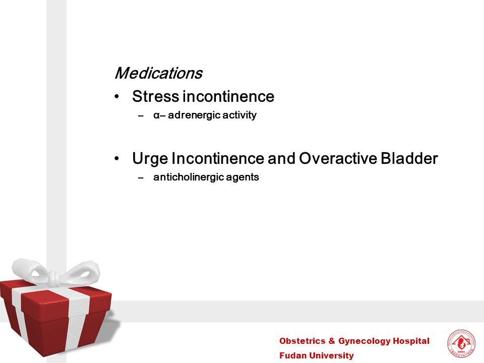 Urge Incontinence and Overactive Bladder