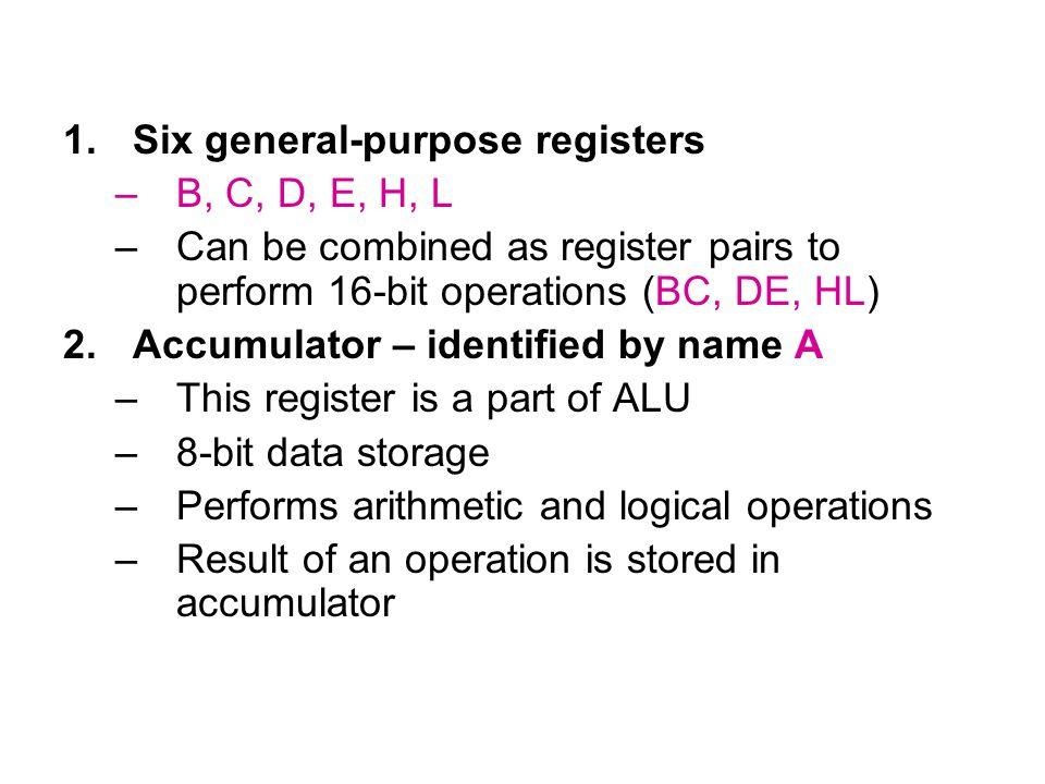 Six general-purpose registers
