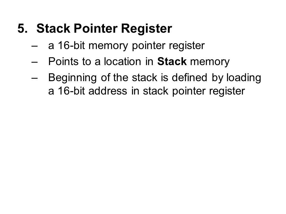 Stack Pointer Register