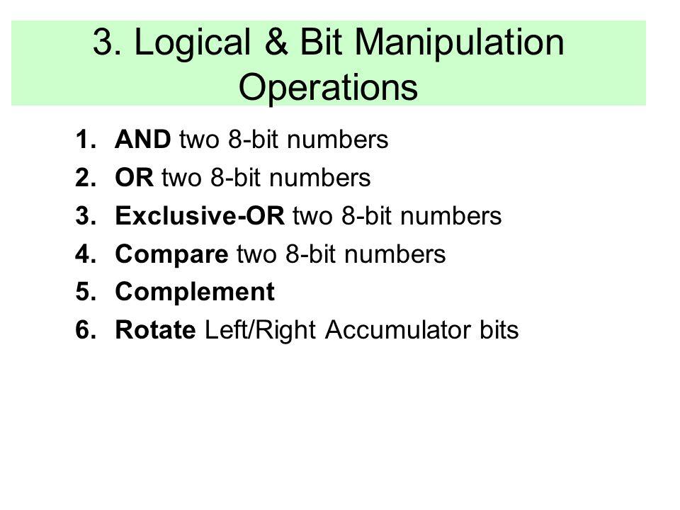 3. Logical & Bit Manipulation Operations