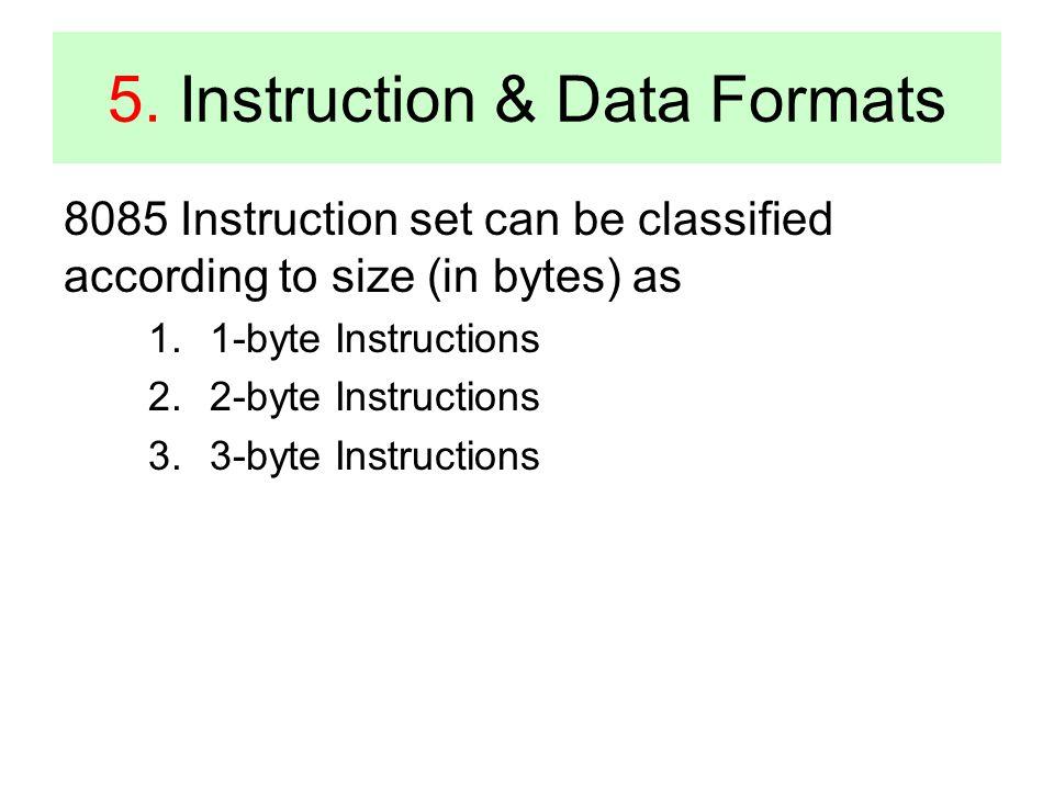 5. Instruction & Data Formats