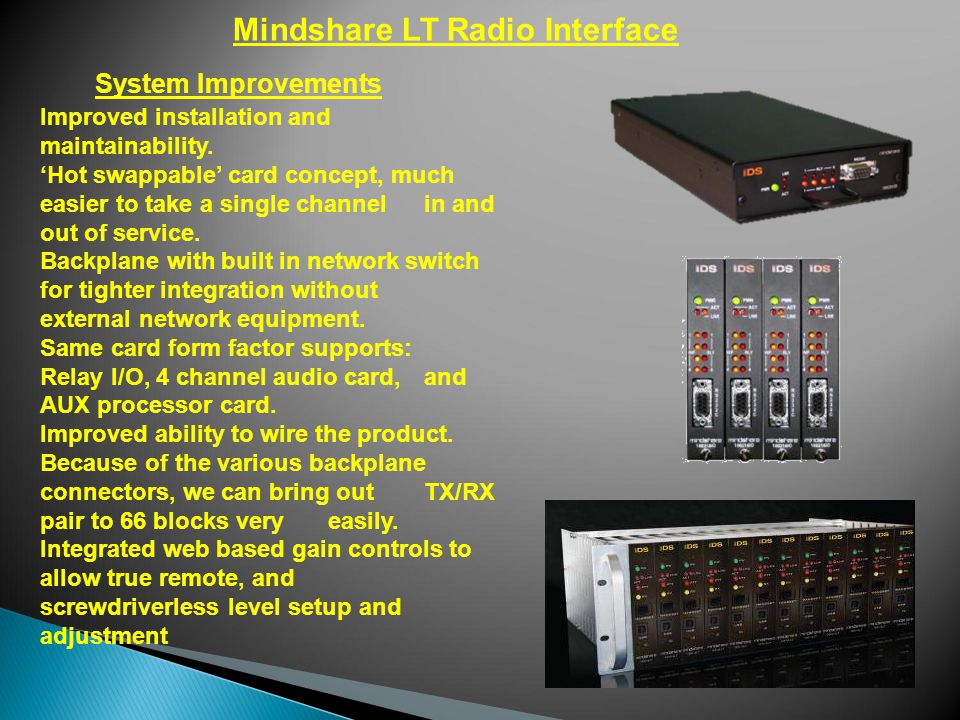 Mindshare LT Radio Interface