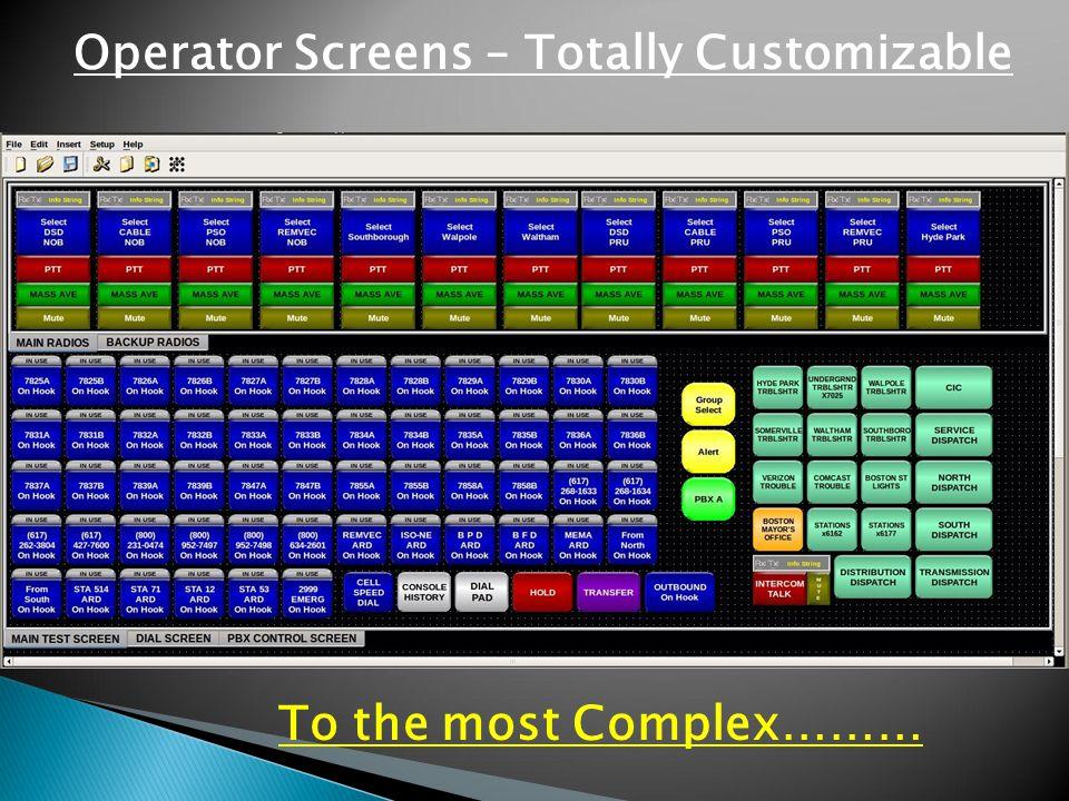 Operator Screens – Totally Customizable