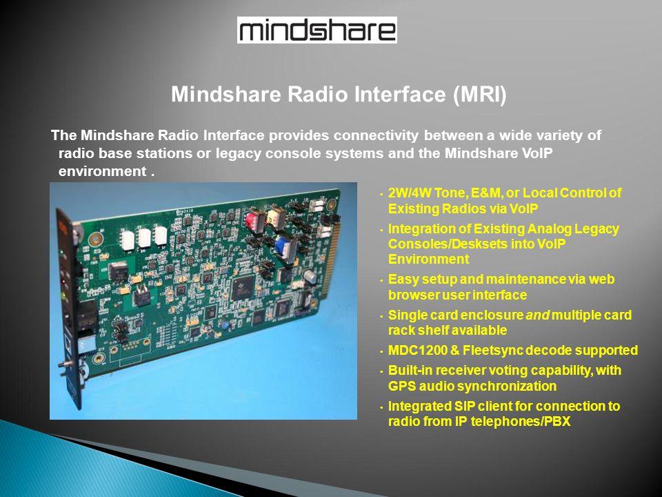 Mindshare Radio Interface (MRI)