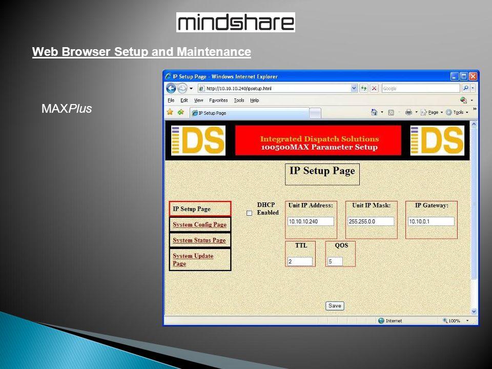 Web Browser Setup and Maintenance