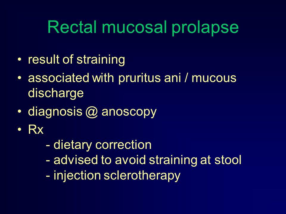 Rectal mucosal prolapse