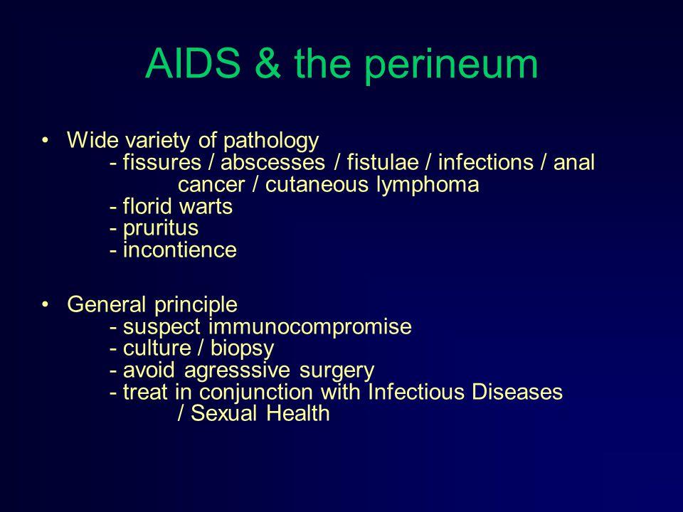 AIDS & the perineum