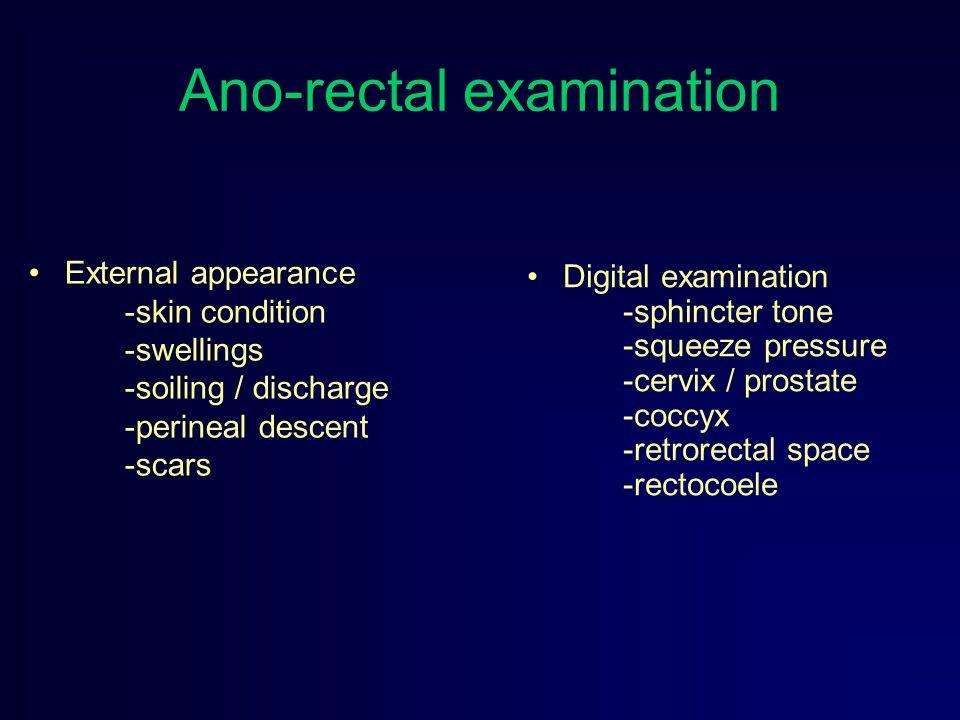Ano-rectal examination