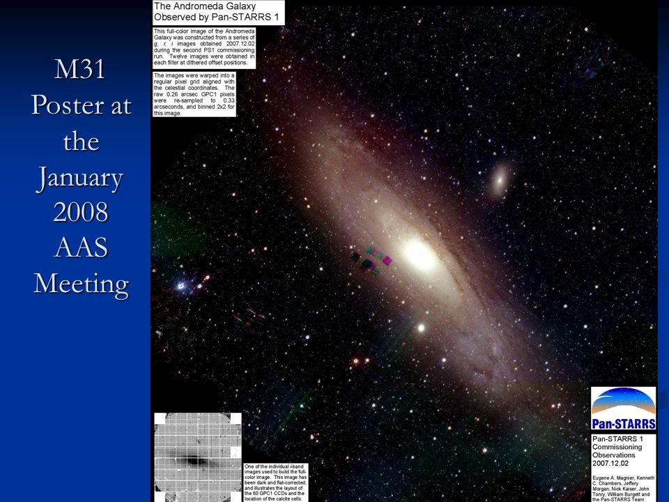 M31 Poster at the January 2008 AAS Meeting