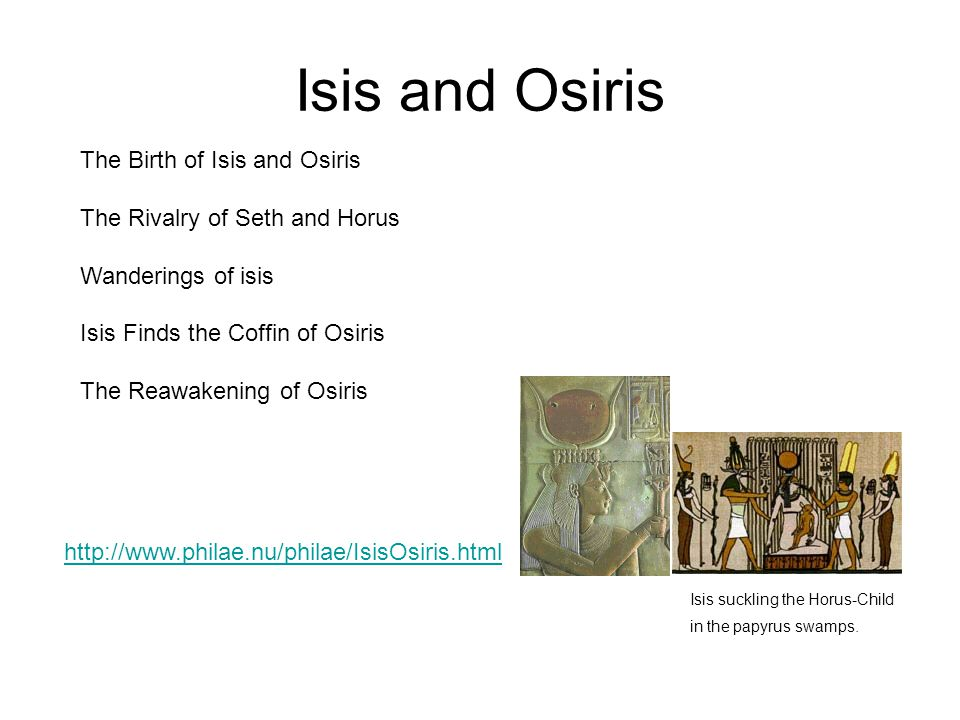Isis and Osiris The Birth of Isis and Osiris