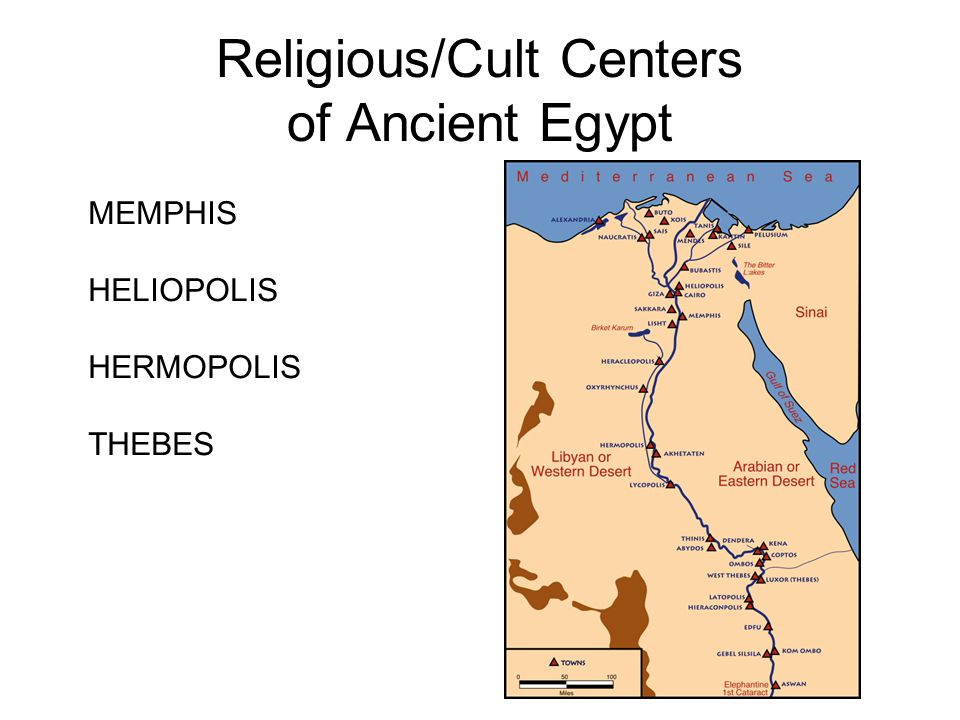 Religious/Cult Centers of Ancient Egypt