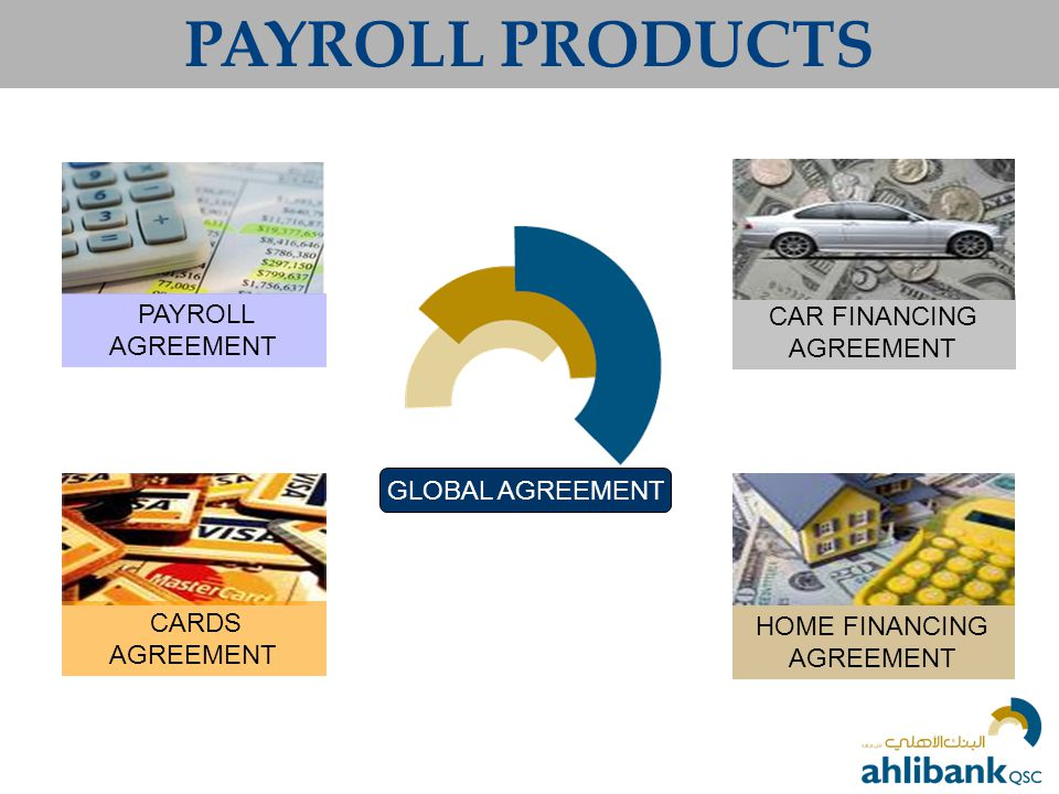 PAYROLL PRODUCTS PAYROLL AGREEMENT CAR FINANCING AGREEMENT