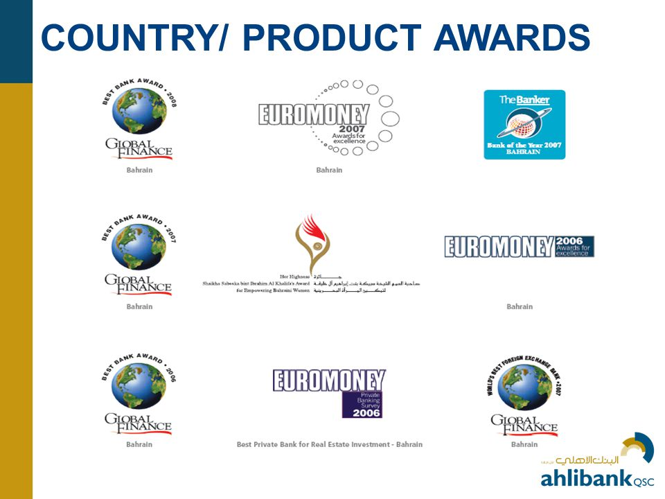 COUNTRY/ PRODUCT AWARDS