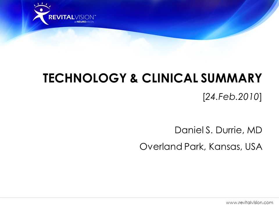 TECHNOLOGY & CLINICAL SUMMARY