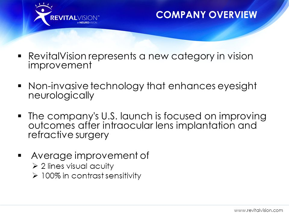 RevitalVision represents a new category in vision improvement