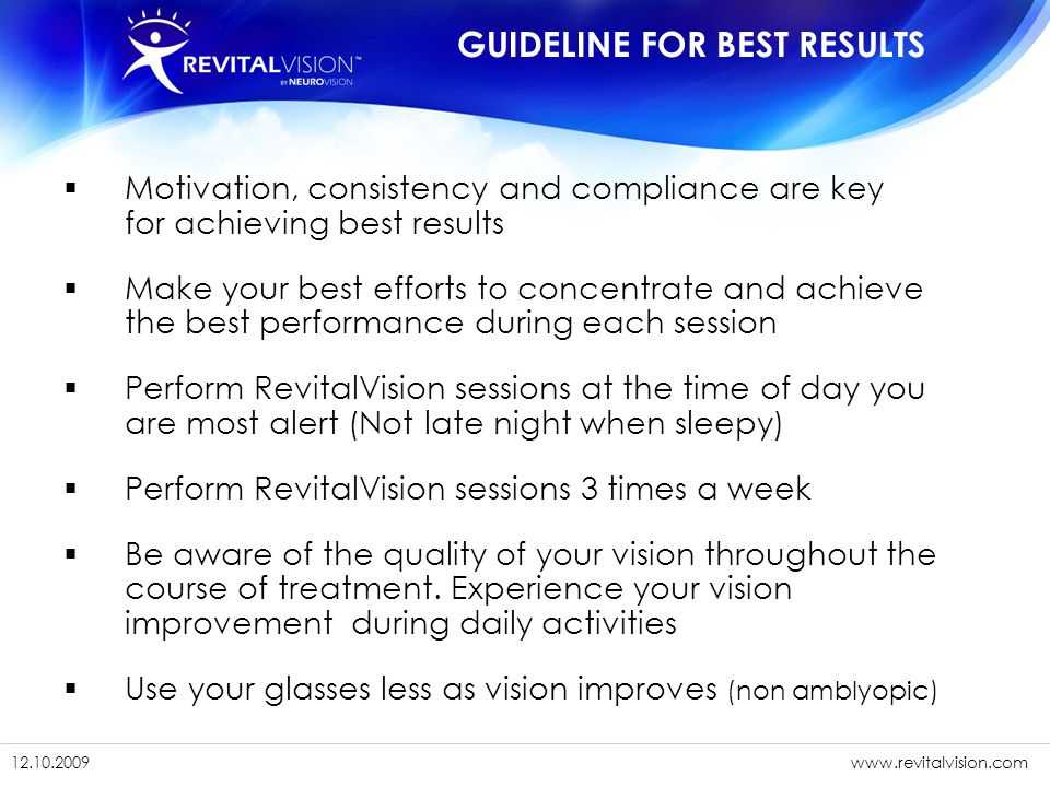 GUIDELINE FOR BEST RESULTS