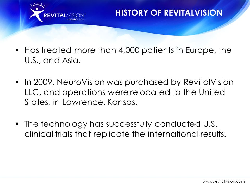 HISTORY OF REVITALVISION