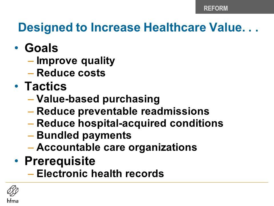Designed to Increase Healthcare Value. . .