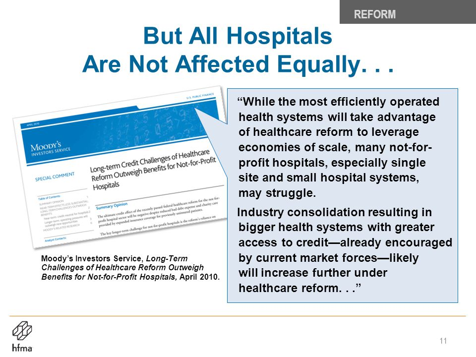 But All Hospitals Are Not Affected Equally. . .