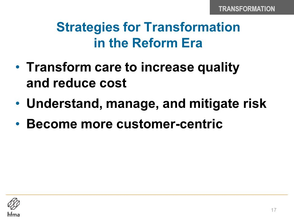 Strategies for Transformation in the Reform Era