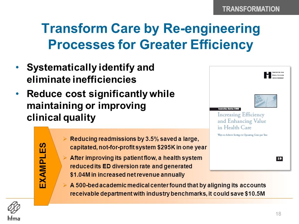 Transform Care by Re-engineering Processes for Greater Efficiency