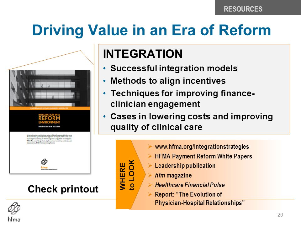 Driving Value in an Era of Reform
