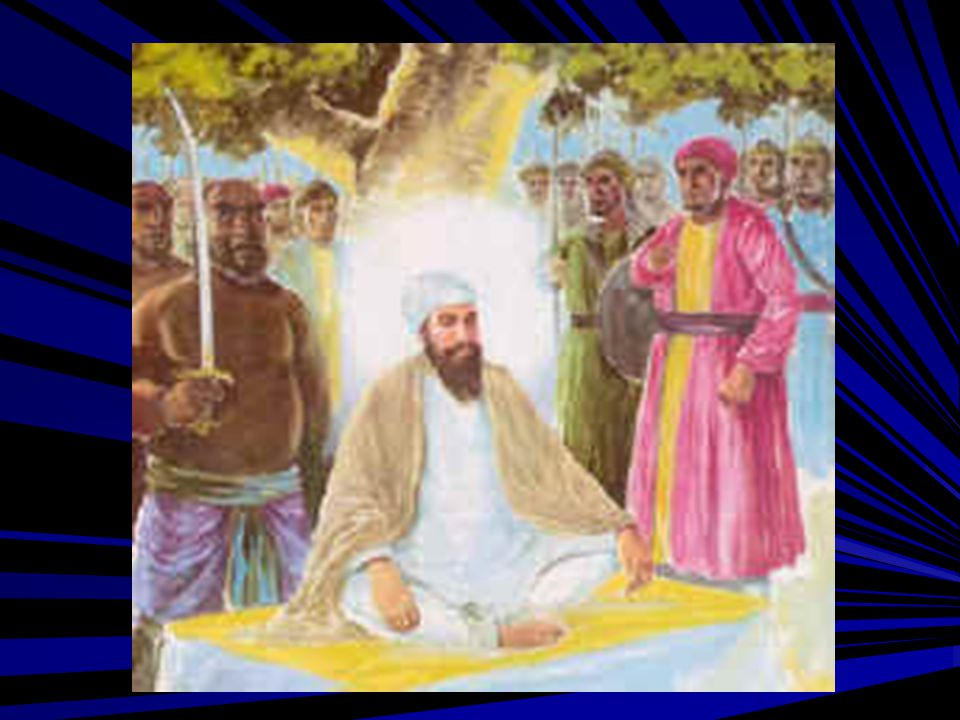 Guru Sahib was allowed to perform His last prayers