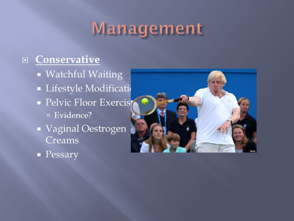 Management Conservative Watchful Waiting Lifestyle Modification