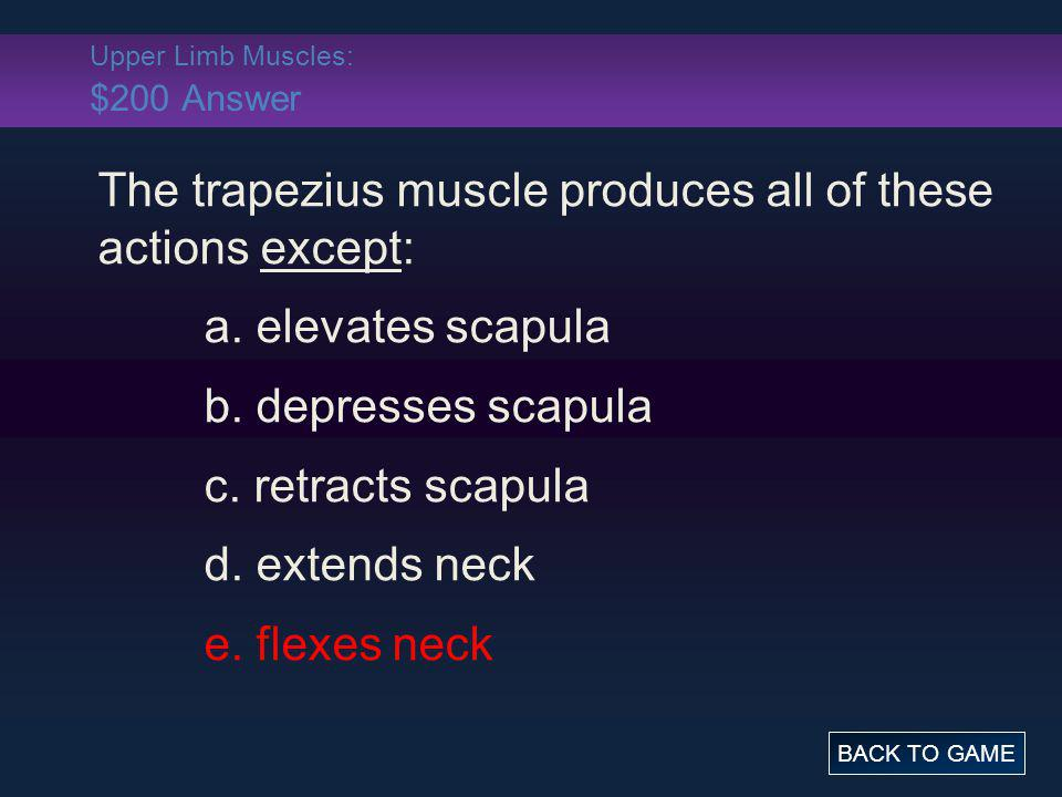Upper Limb Muscles: $200 Answer