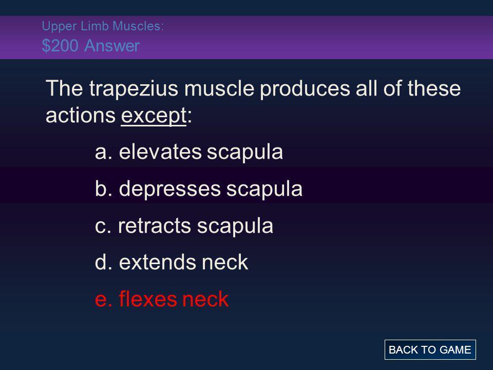 Upper Limb Muscles: $200 Answer