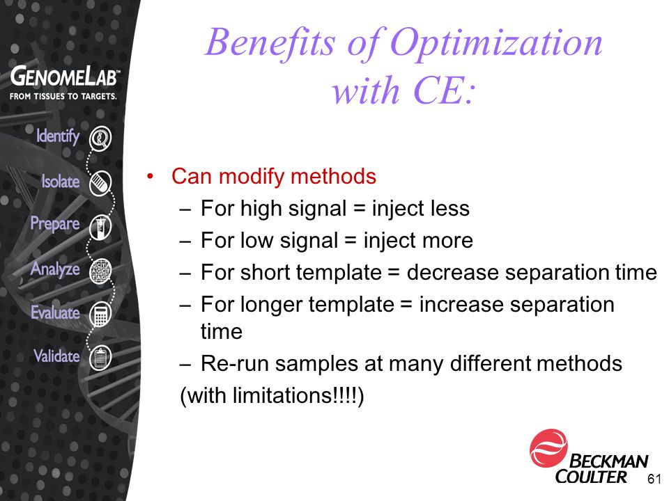 Benefits of Optimization with CE: