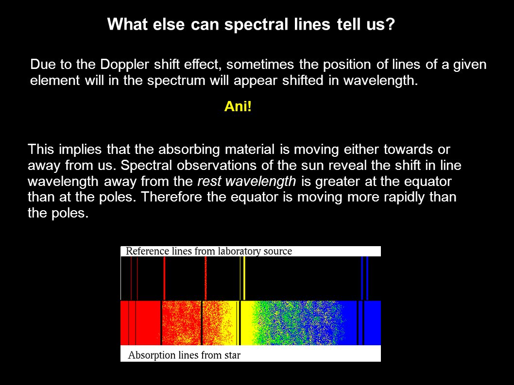 What else can spectral lines tell us