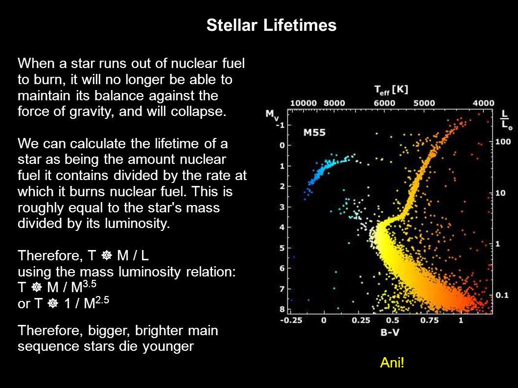 Stellar Lifetimes