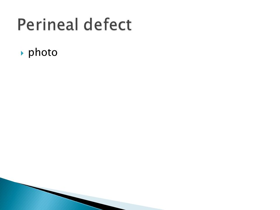 Perineal defect photo