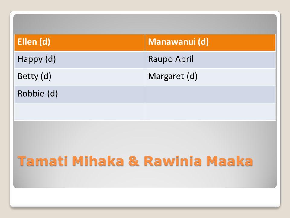 Tamati Mihaka & Rawinia Maaka