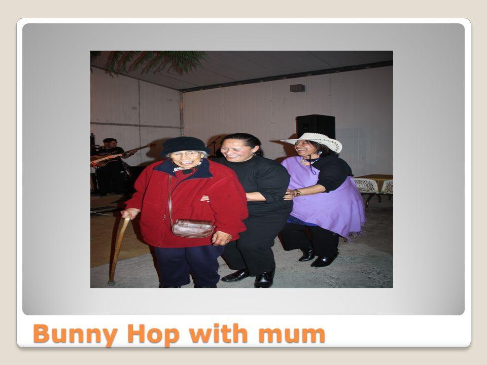 My elder sisters 60th Bunny Hop with mum