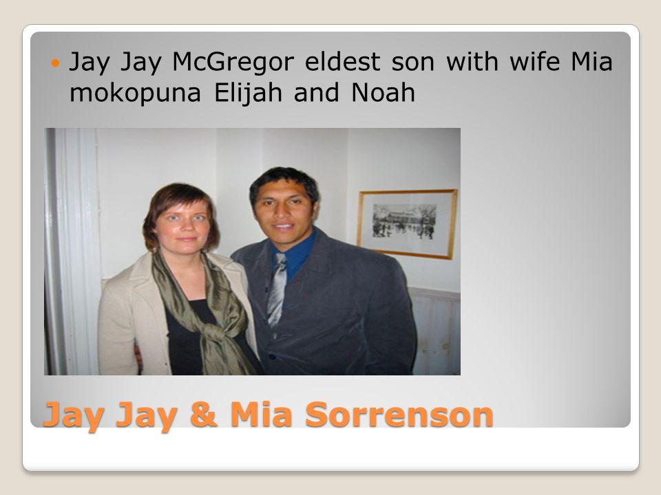 Jay Jay McGregor eldest son with wife Mia mokopuna Elijah and Noah