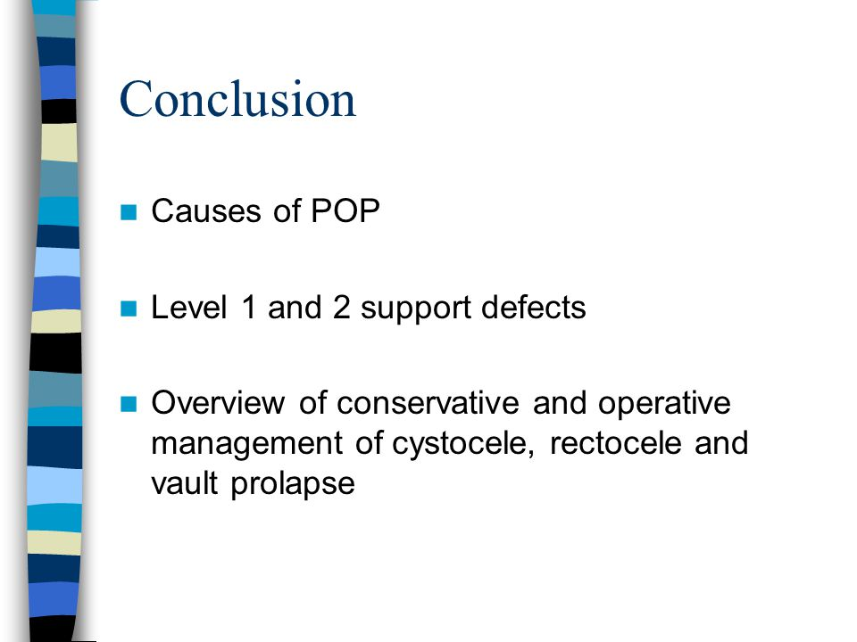 Conclusion Causes of POP Level 1 and 2 support defects