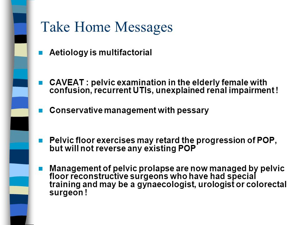 Take Home Messages Aetiology is multifactorial