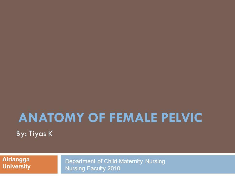 ANATOMY OF FEMALE PELVIC