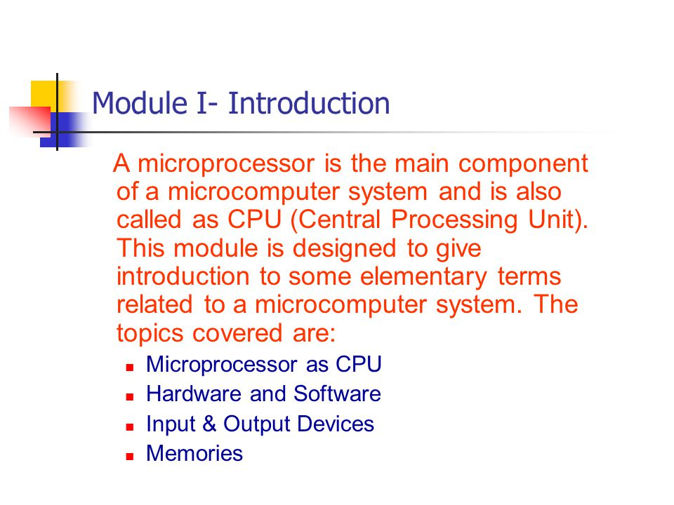 Module I- Introduction