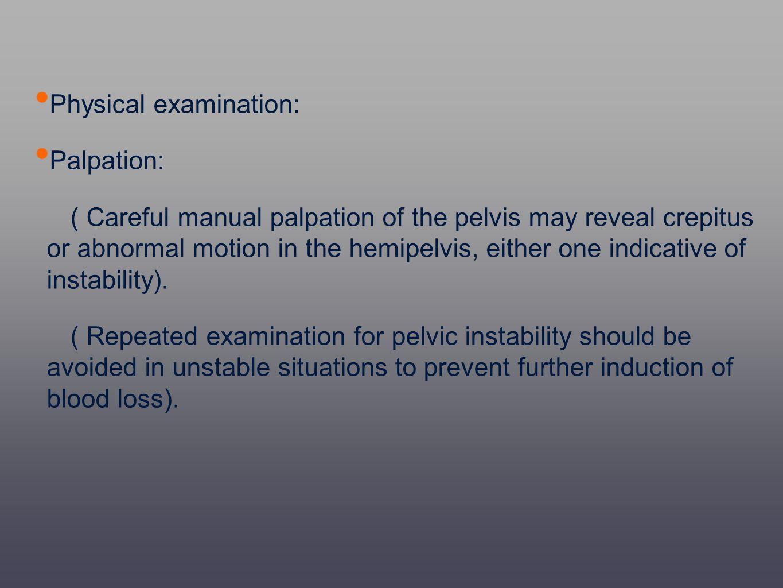 Physical examination: