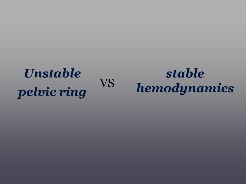 Unstable pelvic ring stable hemodynamics